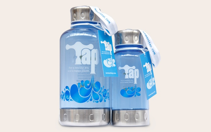 TAP campaign water bottles by Provokateur