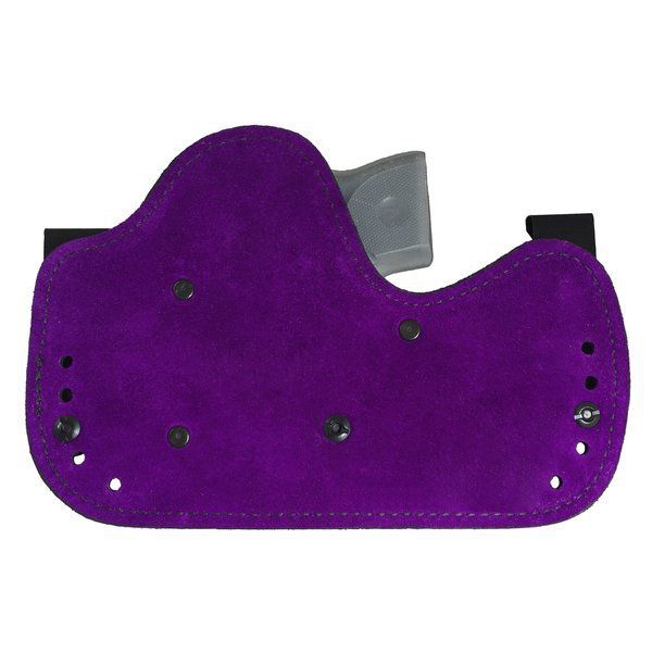 The AVA inside the waistband holster is made for women, with a variety of different cant and depth positions!  A hybrid holster with luxurious purple suede lining!