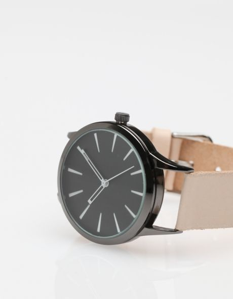++ colorblock leather watch