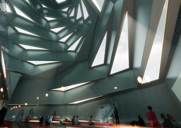 Modern Mosque project in Copenhagen by Bjarke Ingels Group