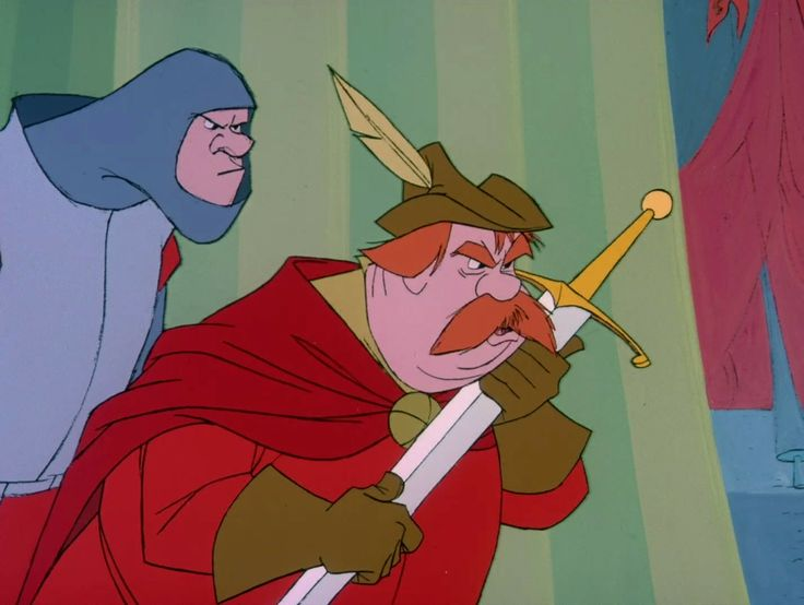 "Sir Ector and his son Sir Kay, foster father and brother to Wart (Arthur) from ""The Sword and the Stone""."