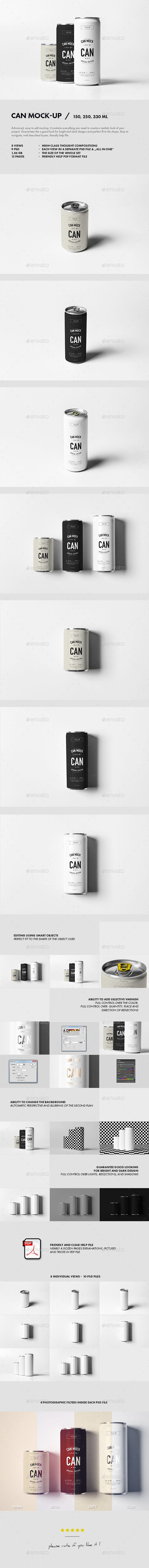 Can Mock-up #design Download: http://graphicriver.net/item/can-mockup/12313506?ref=ksioks