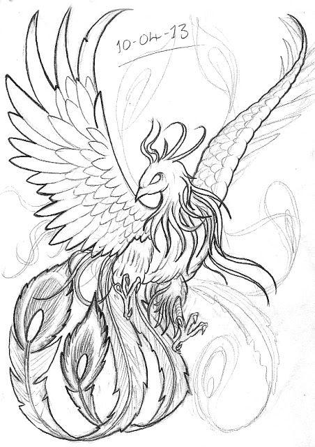 realistic phoenix bird drawings - Google Search                                                                                                                                                                                 Más                                                                                                                                                                                 Más