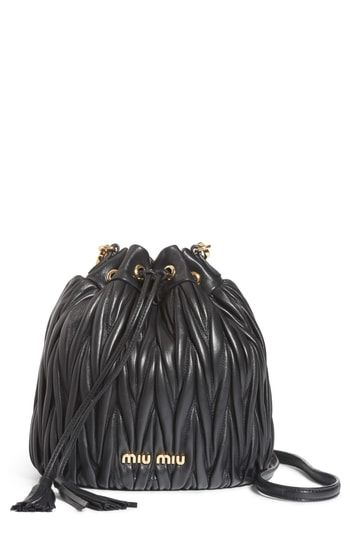 Miu Miu Small Matelassé Leather Bucket Bag in 2019  8a4a0fc9e7a48