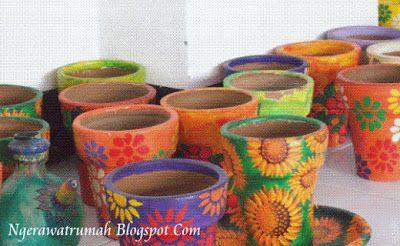 cara membuat pot dari tanah liat - Tips Mempercantik Pot Tanah Liat Agar Tampil Penuh Warna, Cara Mempercantik Pot Tanah Liat Agar Tampil Penuh Warna