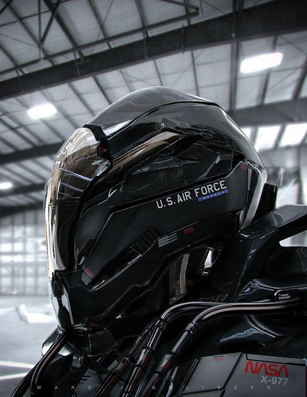 NASA X-977 Mech Character Concept on Behance