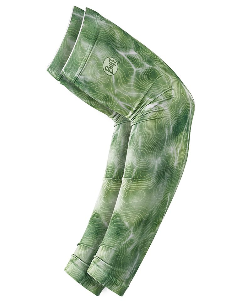 UV Insect Shield Arm Sleeves Bug Slinger: BS Water Camo Green (set of 2)