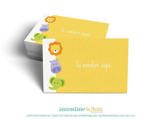Lindas TARJETAS PERSONALES  Diseños para niños   Personalizables con tu nombre   Archivo Digital listo para imprimir por ImprimeTuFiesta