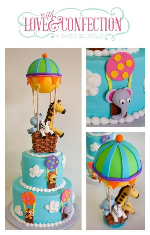 Hot Air Balloon - Cake by With Love & Confection