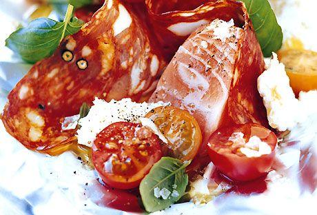 Leilas italienska laxpaket   Recept.nu