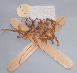 Easy baby Jesus in the manger Christmas craft for preschoolers