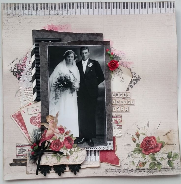 Romantic Vintage WeddingLayout by Helena Wikman #Piondesign #ToMyValentine
