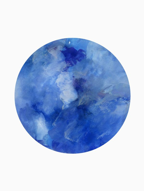 Blue Planet By Georgiana Paraschiv On In 2020 Art Blue Abstract