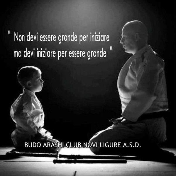 """"""" Non devi essere grande per iniziare ma devi iniziare per essere grande """"   #budoarashinovi #jujitsu #artimarziali #martialarts #jujitsunovi #martialartsnovi"""