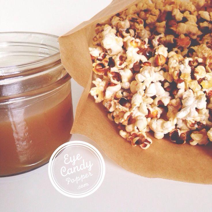 Vegan caramel popcorn (sugar-free, gluten-free)