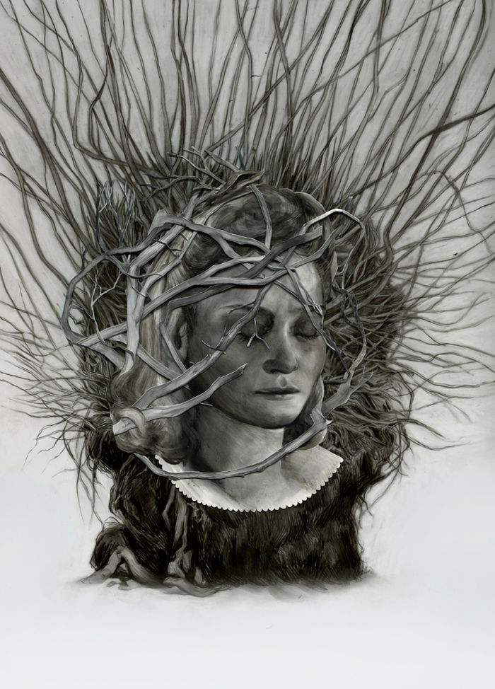 Hazel Lee Santino, graphite and oil