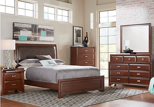 Shop for a Belcourt King Dark Cherry 5Pc Upholstered Bedroom at Rooms To Go. Find Bedroom Sets that will look great in your home and complement the rest of your furniture.