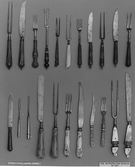 Table Knife and fork 18th C Dutch.   Made of Steel.