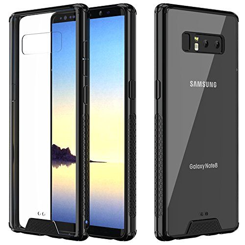 Matone Galaxy Note 8 Case, Hybrid Slim Protective [Crystal Clear] PC Back TPU Bumper [Drop Cushion] Scratch Resistant Shock-Absorption Case Cover for Samsung Galaxy Note 8 2017 Release (Clear) - TPU & PC Structure Made from premium shockproof material, Matone Galaxy Note 8 Case featuring with durable PC back & soft TPU bumper, provides full protection to your phone while maintaining a slim, non-bulky profile. Raised Edges & Corner Protection Raised bezel around camera and front display s...