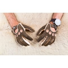 Men's Carpincho and Deerskin  Driving Leather Gloves car driver leather gloves