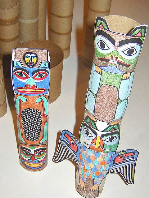 Cardboard Tube Totems ~ 1 of 2 photos by Urban Woodswalker, via Flickr