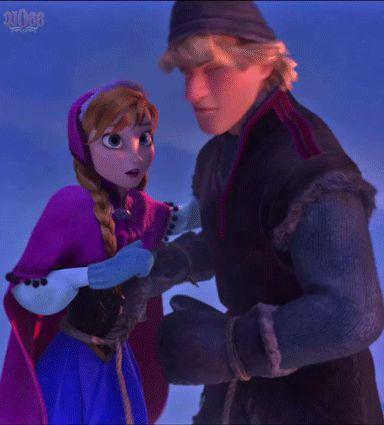 Anna and Kristoff - disney-frozen (gif)