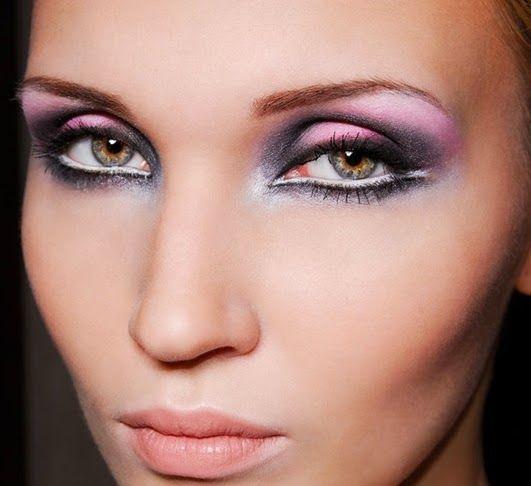 metallisches Augen Make-up