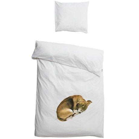 Snurk sängkläder - Hund, Påslakan och örngott, enkelsäng