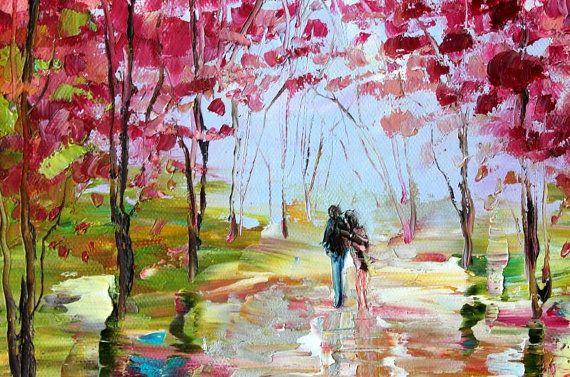 Pintura al óleo originales impresionismo de arte por Karensfineart