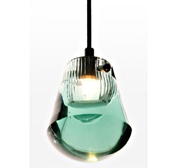 YLIGHTING   Pressed Glass Pendant In Bead.