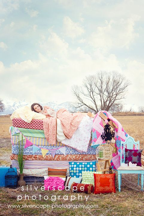 Confessions of a Prop Junkie » Inspiration. I NEED mattresses!! I've seen this with newborns but not with teens. So cool.