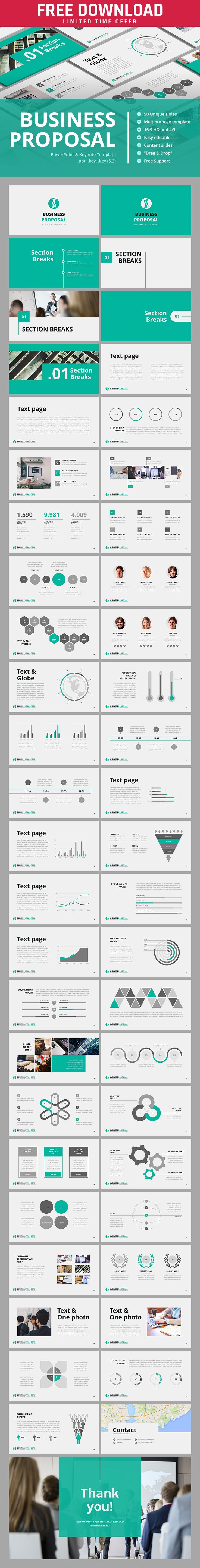 Best 25 powerpoint template free ideas on pinterest free make them the business proposal they will never refuse more keynote templates toneelgroepblik Image collections