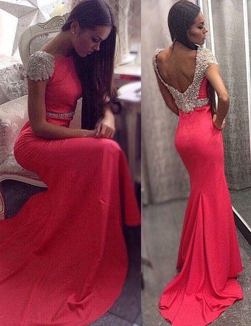 Stunning Prom Dress,Cap Sleeve Prom Dress,Custom Prom Dress,Cheap Prom Dress,Charming Prom Dress,PD000135