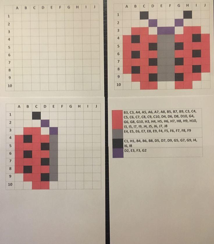 Symetria, współrzędne, mystery picture, obrazki, kodowanie