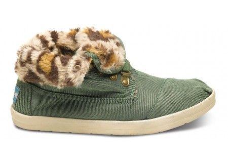 Highlands Green Leopard Fleece Women's Botas | TOMS.com #toms