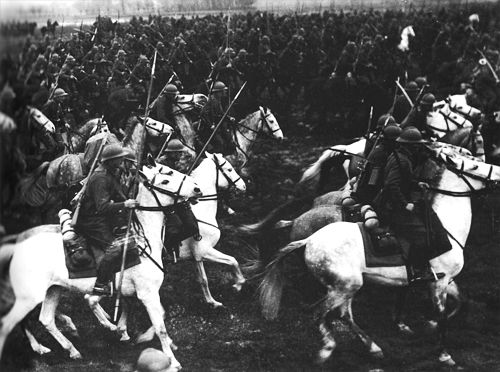 Although the Polish Army would have outnumbered the attacking German army — the Wehramcht — once it had all been mustered, the Germans were met by 17 ill-equipped infantry division. The Poles had just one armored brigade — 660 tanks in all, versus Germany's 2,100. It was during the Invasion of Poland that the last cavalry charge in the history of warfare was made by the Polish horseman against German tanks.