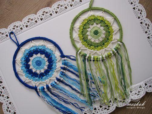 Crochet dreamcatcher - meskok.designhttp://meskok.hu/termekek/horgolt/napszemvirag-alomfogo/