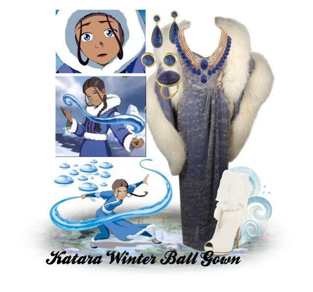"""Katara Winter Ball Gown"" by unwrittenlove on Polyvore featuring Nolan Miller, Karen Kane and Le Silla"