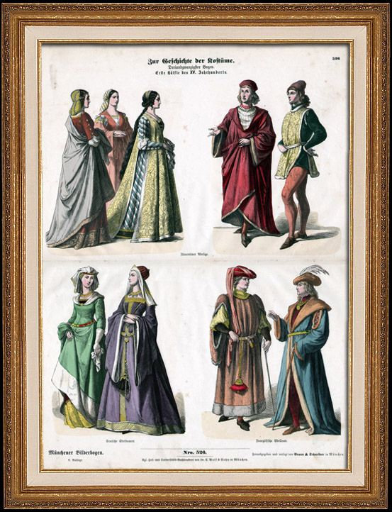 German, French and Italian Costume - German, French and ...