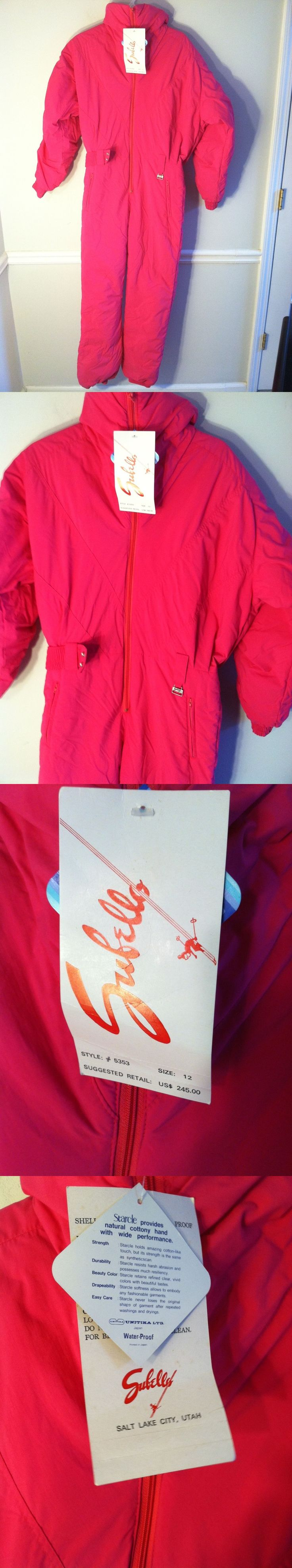 Snowsuits 62178: New Subello Women S Size 12 Pink Ski Suit Outfit 5353 Snowboarding One Piece 1 -> BUY IT NOW ONLY: $139.99 on eBay!