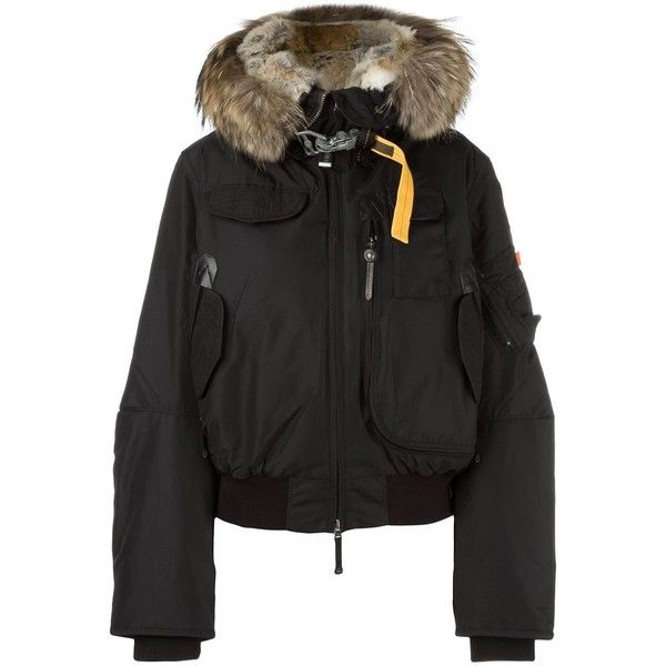 Parajumpers hooded puffer jacket ($723) ❤ liked on Polyvore featuring outerwear, jackets, black, parajumper jacket, puffer jacket, puffy jacket, feather jackets and hooded jacket