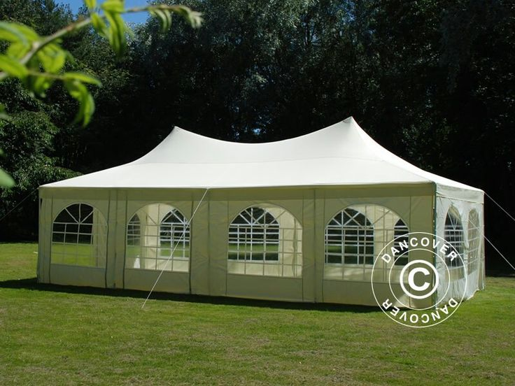 Elegant party tent 4x8 m with peak roof style