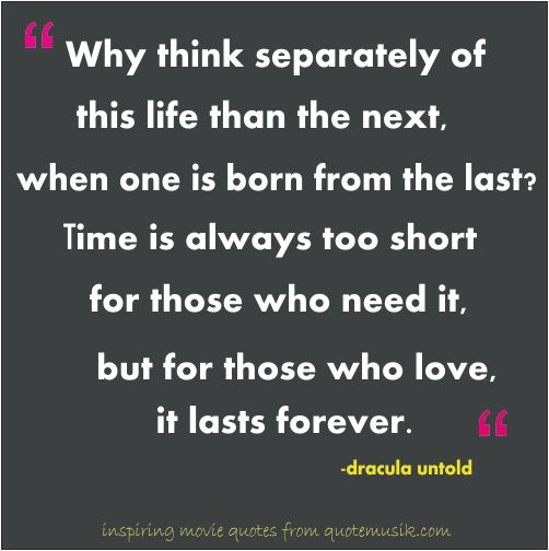 dracula untold soulmate quote - Google Search