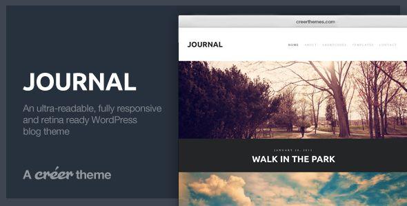 Journal - Responsive Readable WordPress Blog Theme