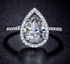 Engagement Rings Teardrop Engagement Ring