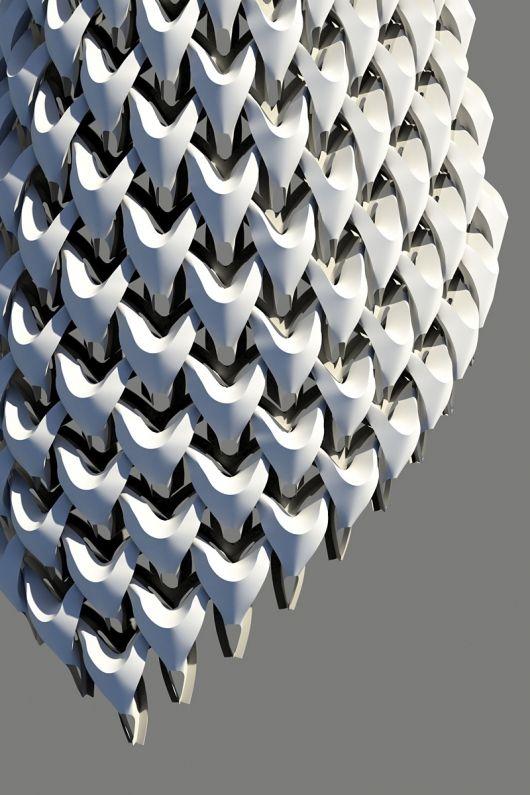 "Robotic fabrication of ""Sartorial Tectonics"" facade system"