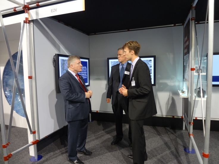 Jon Kemp and Andy Bennett speaking to the Business Minister Mark Prisk at the Make it in Great Britain exhibition