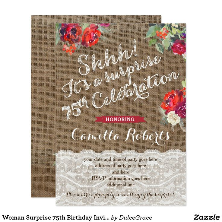 Best 25 75th birthday invitations ideas – 75 Birthday Card
