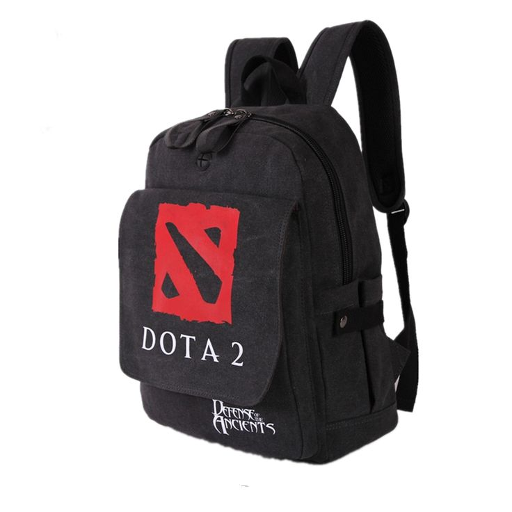 High Quality Game Dota Dota 2 Printing Black Military backpack School Bags for Teenagers Fashion Canvas Students Rugzak