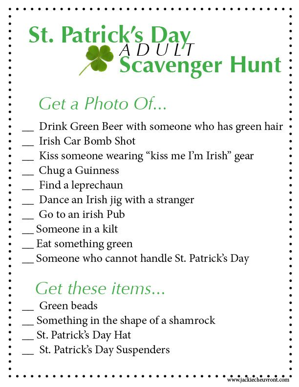 All clear, St patricks day adult party idea